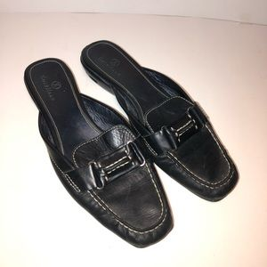 Cole Haan Nike Air Leather Slip On Mules